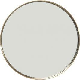 Kulaté nástěnné zrcadlo s rámem v mosazné barvě Kare Design Curve, Ø60cm