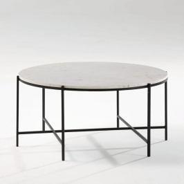 Konferenční stolek s mramorovou deskou černými nohami Thai Natura, ∅86cm