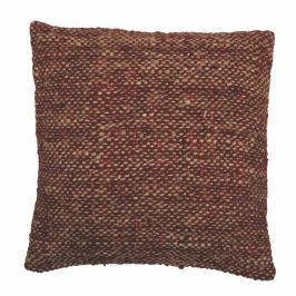 Hnědočervený povlak na polštář Tiseco Home Studio Chambray, 45x45cm