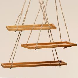 Sada 3 závěsných dekorací z jedlového dřeva Boltze Swing