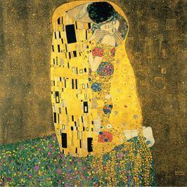 Reprodukce obrazu Gustav Klimt - The Kiss, 40x40cm