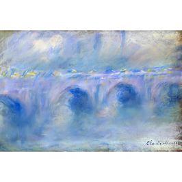 Reprodukce obrazu Claude Monet - Le Pont de Waterloo, 90 x 60 cm