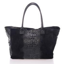 Černá kožená kabelka Lisa Minardi Fausta
