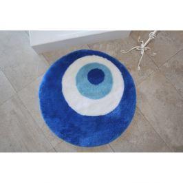 Kulatá modrá koupelnová předložka Eye