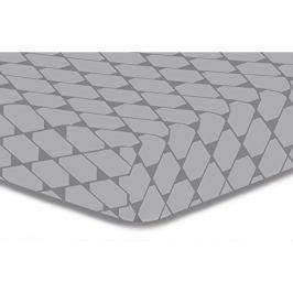 Šedé elastické prostěradlo z mikrovlákna DecoKing Rhombuses, 220x240cm