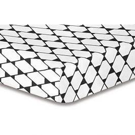 Elastické prostěradlo se vzorem DecoKing Rhombuses, 120x200cm