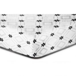 Prostěradlo z mikrovlákna DecoKing Hypnosis Snowynight, 220x240cm