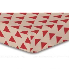 Prostěradlo z mikrovlákna DecoKing Hypnosis Triangles Cintia, 140x200cm