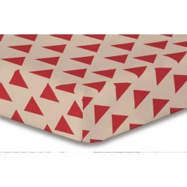 Prostěradlo z mikrovlákna DecoKing Hypnosis Triangles Cintia, 160x200cm
