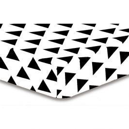 Prostěradlo z mikrovlákna DecoKing Hypnosis Triangles Elena, 100x200cm