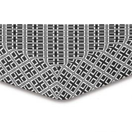 Prostěradlo z mikrovlákna DecoKing Hypnosis Triangles Felipa, 220x240cm