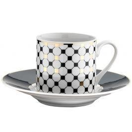 Sada 6 porcelánových šálků s podšálkem Kutahya Goldie, 50 ml