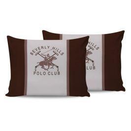 Sada bavlněných 2 polštářků Polo Club Brown,50x70cm