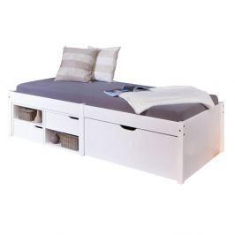 Bílá postel z masivního borovicového dřeva Interlink Farum, 90 x 200 cm