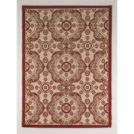 Červeno-béžový běhoun vhodný do exteriéru Casa Sisall, 240 x 70 cm