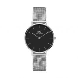 Dámské hodinky ve stříbrné barvě s černým ciferníkem Daniel Wellington Petite, ⌀28mm