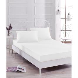 Set bílého elastického prostěradla a2povlaků na polštáře na jednolůžko Basso Blanco, 160 x 200 cm