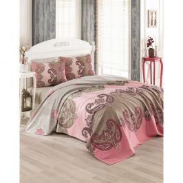 Bavlněný přehoz přes postel na dvoulůžko Royal Pique Rose, 200 x 230 cm