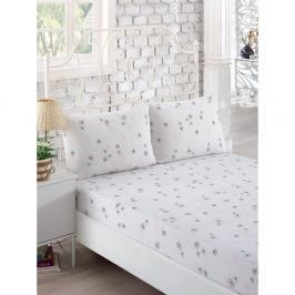 Set bílého elastického prostěradla a2povlaků na polštáře na jednolůžko Softy, 160 x 200 cm