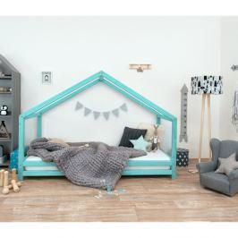 Tyrkysová dětská postel z lakovaného smrkového dřeva Benlemi Sidy, 80 x 190 cm
