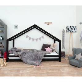 Černá dětská postel z lakovaného smrkového dřeva Benlemi Sidy, 80 x 200 cm