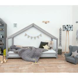 Šedá dětská postel z lakovaného smrkového dřeva Benlemi Sidy, 80 x 160 cm