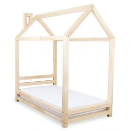 Dětská postel z lakovaného smrkového dřeva Benlemi Happy,80x160cm