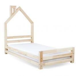 Dětská postel z přírodního smrkového dřeva Benlemi Wally,120x200cm