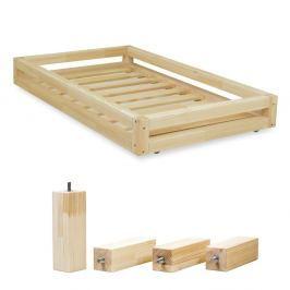 Set přírodní zásuvky pod postel a 4 prodloužených nohou Benlemi,propostel80x160cm