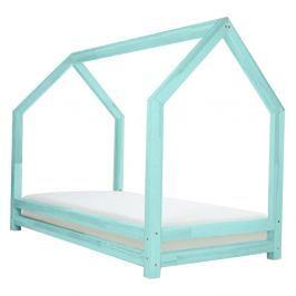 Tyrkysová dětská postel z lakovaného smrkového dřeva Benlemi Funny, 90 x 160 cm