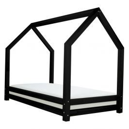 Černá dětská postel z lakovaného smrkového dřeva Benlemi Funny, 80 x 200 cm