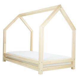 Dětská postel z lakovaného smrkového dřeva Benlemi Funny, 90 x 160 cm