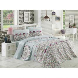 Set přehozu přes postel, prostěradla a 2 povlaků na polštář na dvoulůžko Dorian, 200 x 235 cm
