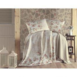 Set přehozu přes postel, prostěradla a 2 povlaků na polštář na dvoulůžko Fruity, 200 x 235 cm