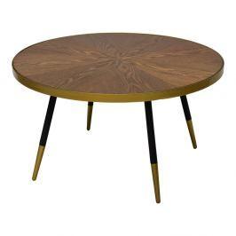 Konferenční stolek s deskou v dekoru ořechového dřeva RGE Facett, výška 45 cm