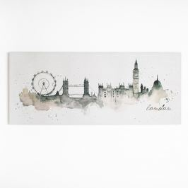 Obraz Graham & Brown London Watercolour, 120 x 50 cm
