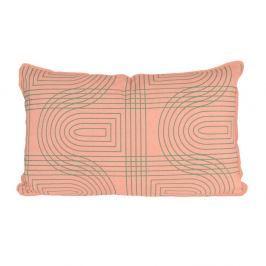 Růžový polštář PT LIVING Retro, 50x30cm