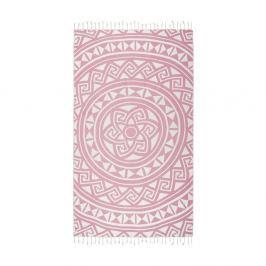 Růžová hammam osuška Kate Louise Mirabelle, 165x100cm