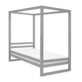 Šedá dřevěná jednolůžková postel Benlemi Baldee, 200x90cm