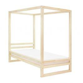 Dřevěná jednolůžková postel Benlemi Baldee Naturaleza, 190x80cm