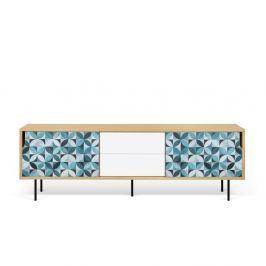 TV stolek z dubového dřeva s kovovýma nohama TemaHome Dann Morocco