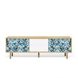 TV stolek z dubového dřeva TemaHome Dann Morocco