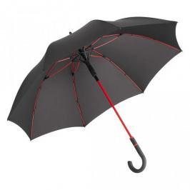 Černý větruodolný deštník s červenými detaily Ambiance Fare Proof, ⌀112cm