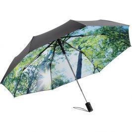 Zelenočerný větruodolný skládací deštník Ambiance Forest, ⌀100cm