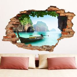 Samolepka Ambiance The Secret Islands View, 60 x 90 cm