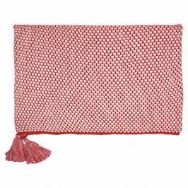 Červená pletená deka Green Gate Dot, 130 x 180 cm