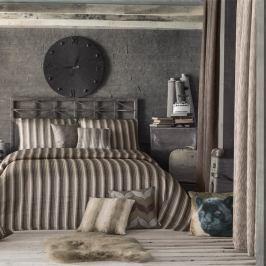 Sada přehozu přes postel a povlaků na polštář Apolena Luxury, hnědá