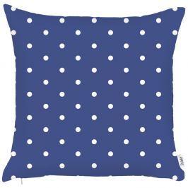 Modrý povlak na polštář Apolena Little Dots, 43x43cm