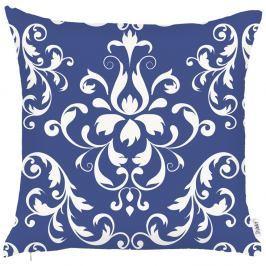 Modrý povlak na polštář Apolena Ornament, 43x43cm