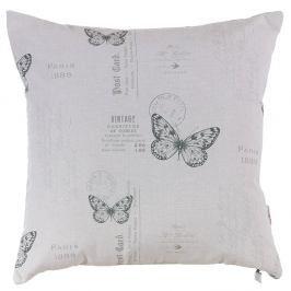 Polštář s náplní Grey Butterfly